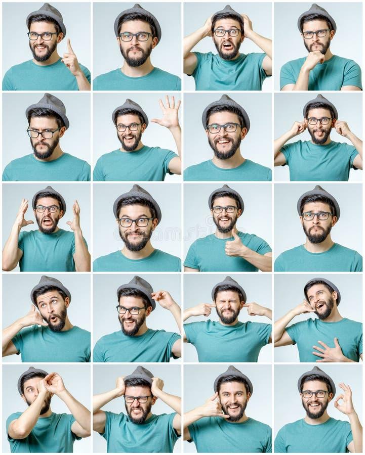 Sistema del hombre emocional hermoso fotografía de archivo libre de regalías