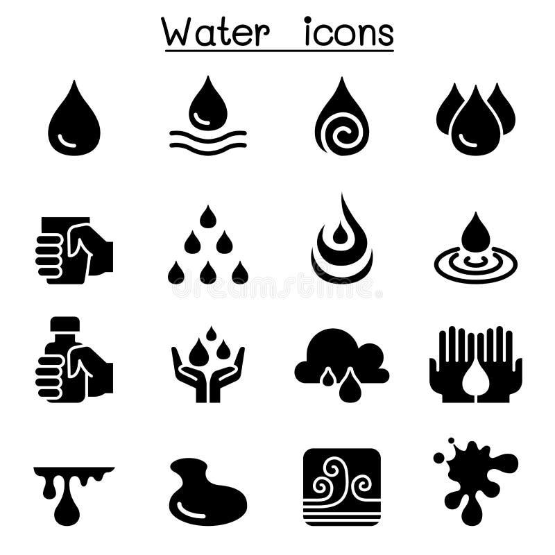 Sistema del icono del agua stock de ilustración