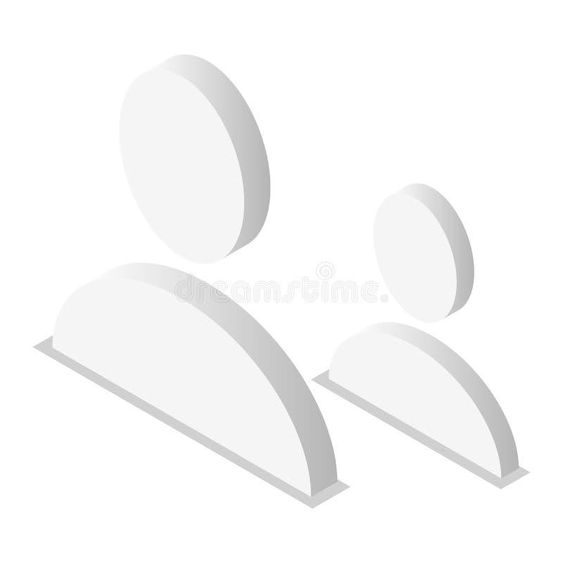 Sistema del icono del avatar de la gente, estilo isométrico libre illustration