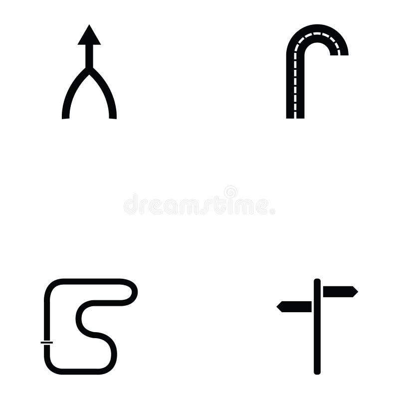 Sistema del icono del camino ilustración del vector