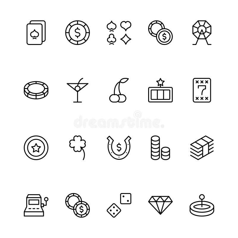 Sistema del icono del casino libre illustration