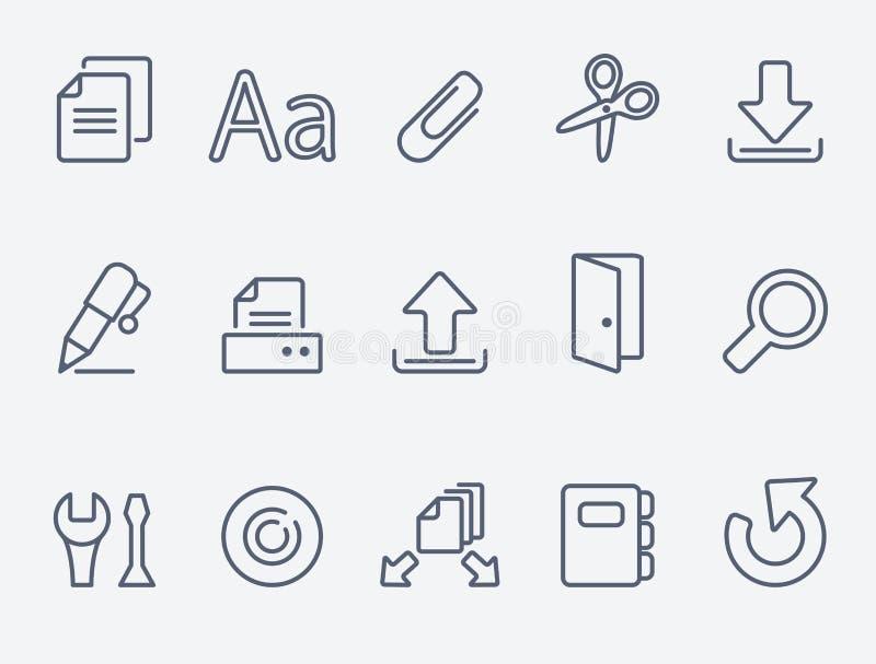 Sistema del icono de documento libre illustration