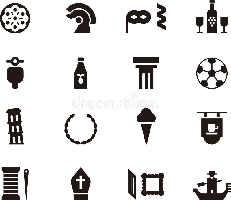 Sistema del icono de Italia libre illustration