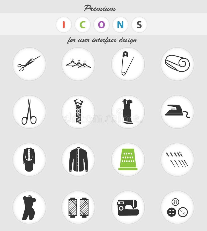 Sistema del icono de la adaptación stock de ilustración