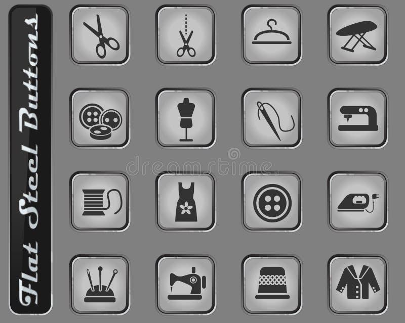 Sistema del icono de la adaptación ilustración del vector