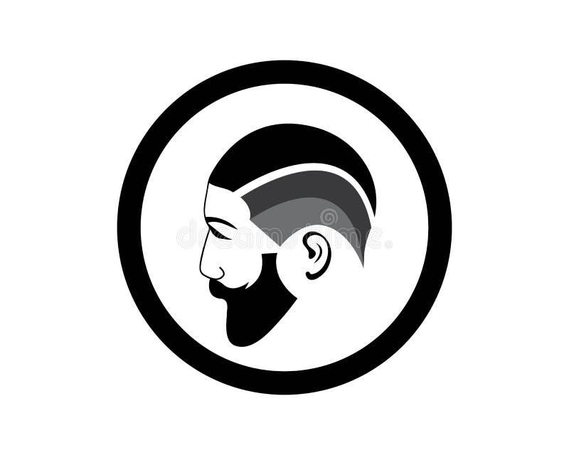 Sistema del icono de la barbería libre illustration