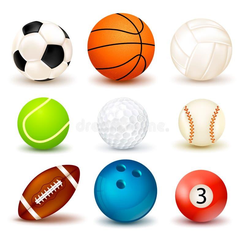 Sistema del icono de la bola libre illustration