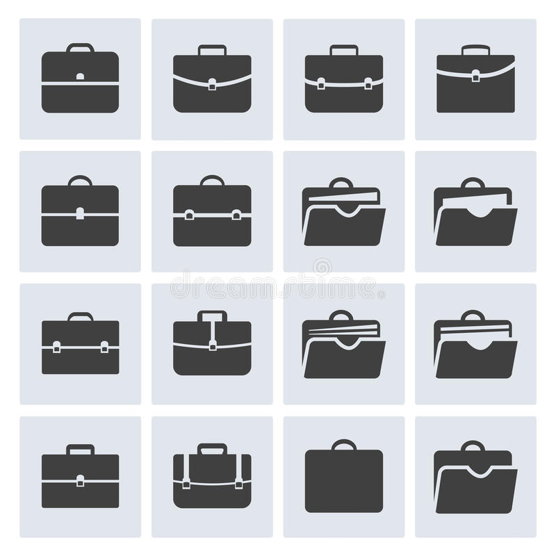 Sistema del icono de la cartera libre illustration