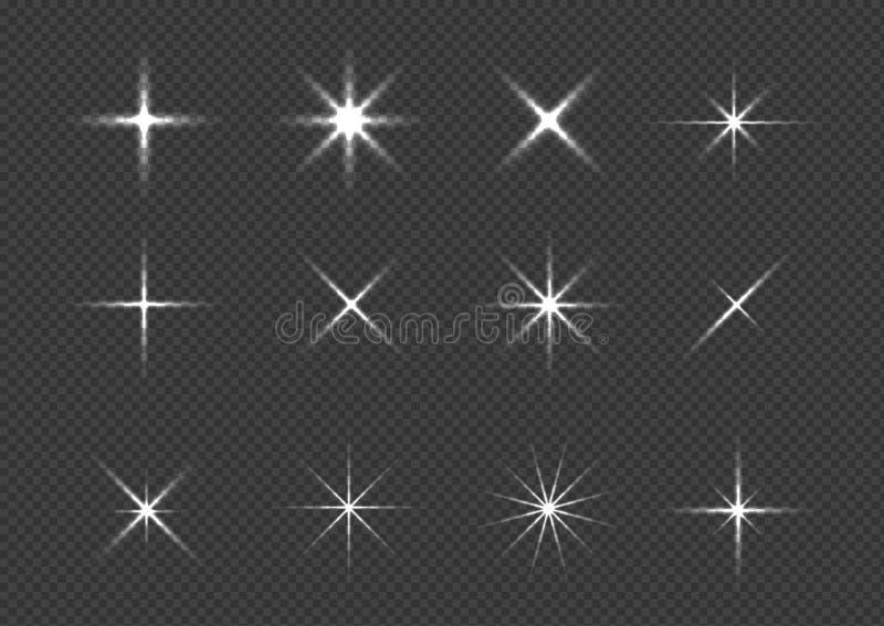Sistema del icono de la chispa imagen de archivo libre de regalías