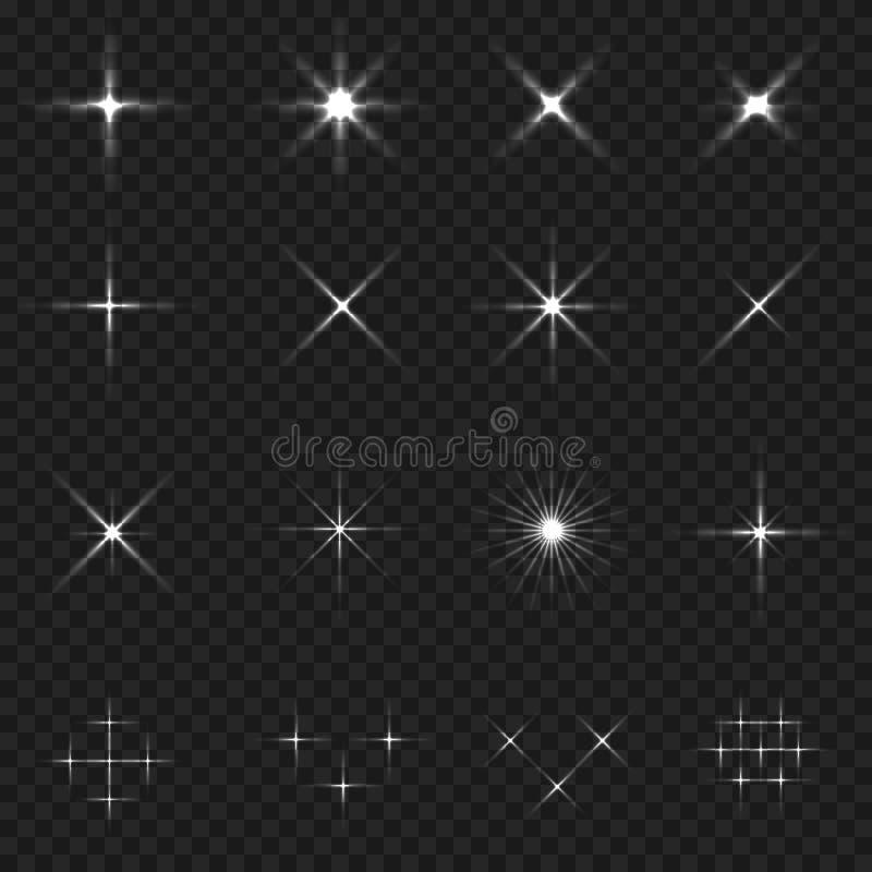 Sistema del icono de la chispa fotos de archivo libres de regalías
