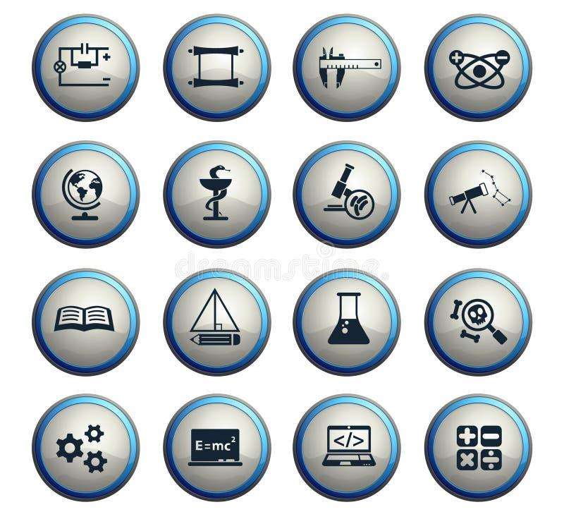Sistema del icono de la ciencia libre illustration