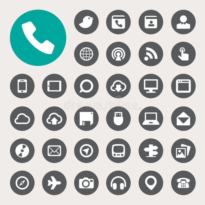 Sistema del icono de la comunicación y del transportaion libre illustration
