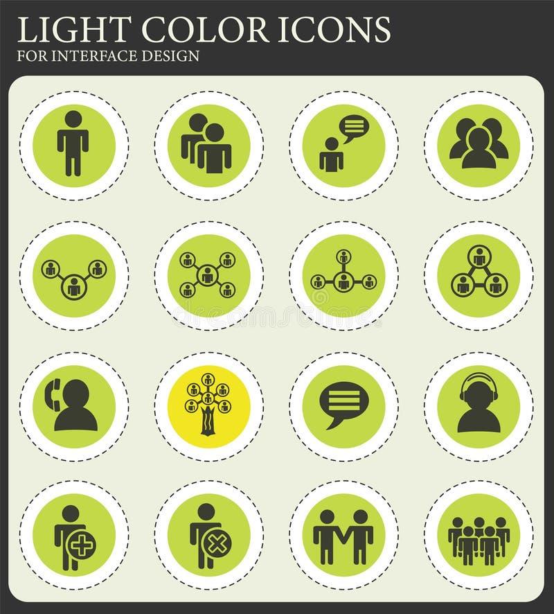Sistema del icono de la comunidad libre illustration