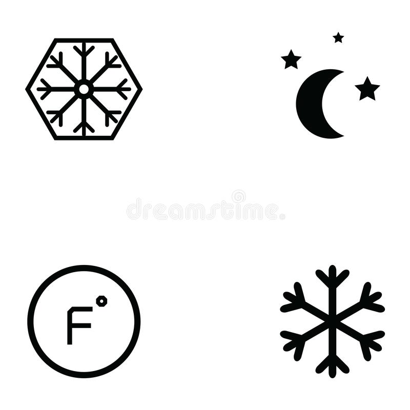 Sistema del icono de la condición del aire libre illustration