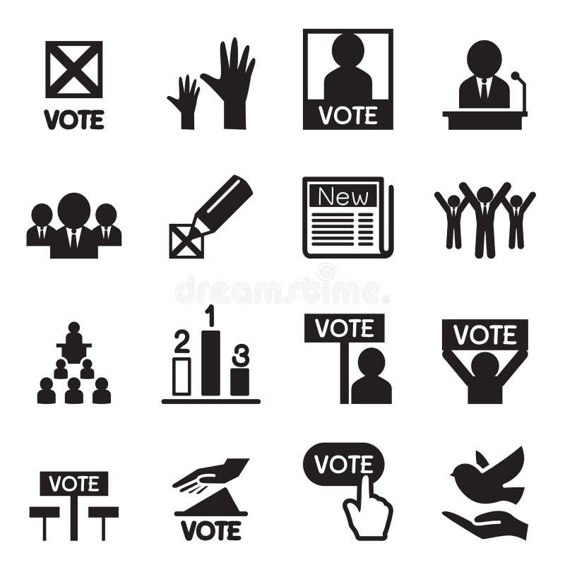 Sistema del icono de la democracia ilustración del vector