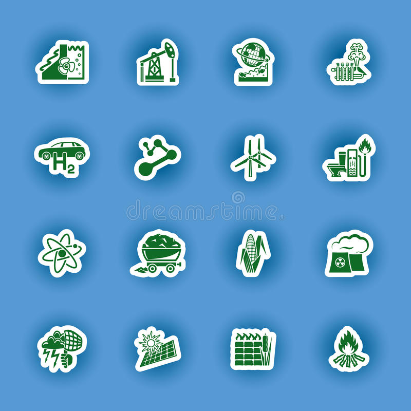 Sistema del icono de la energía renovable y alternativa libre illustration