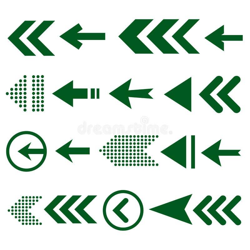 Sistema del icono de la flecha, gran diseño para cualquier propósitos libre illustration