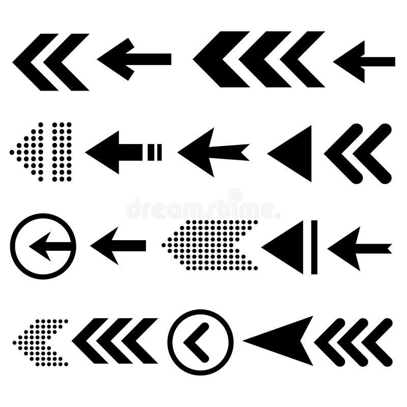 Sistema del icono de la flecha, gran diseño para cualquier propósitos fotos de archivo libres de regalías