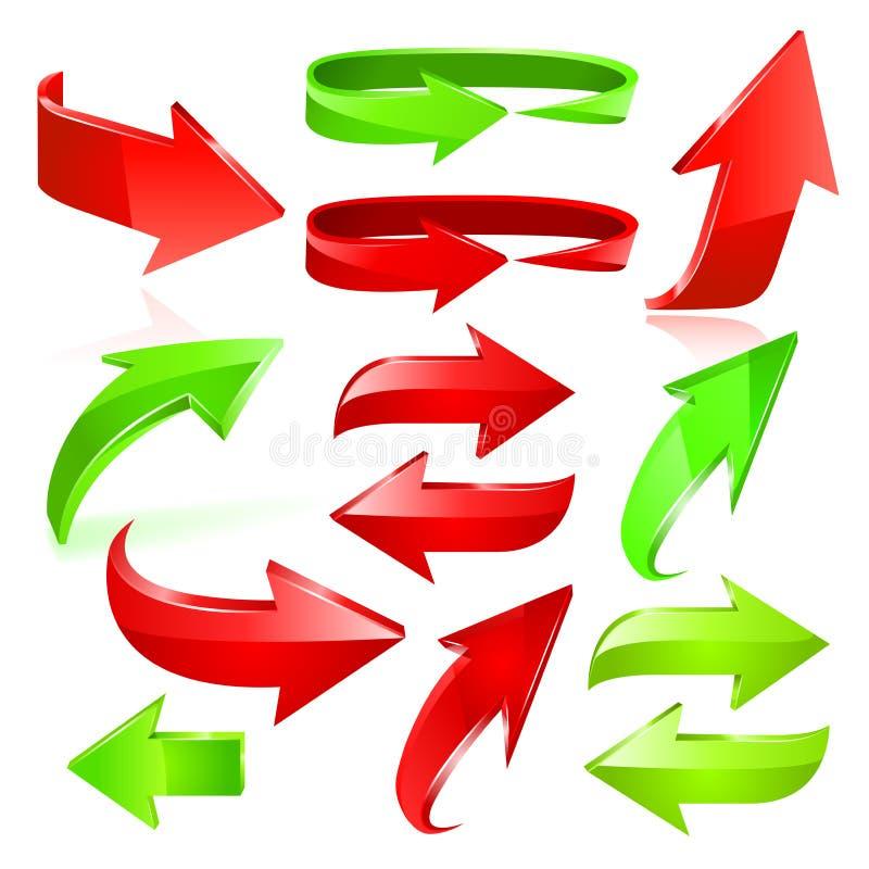 Sistema del icono de la flecha. Vector libre illustration