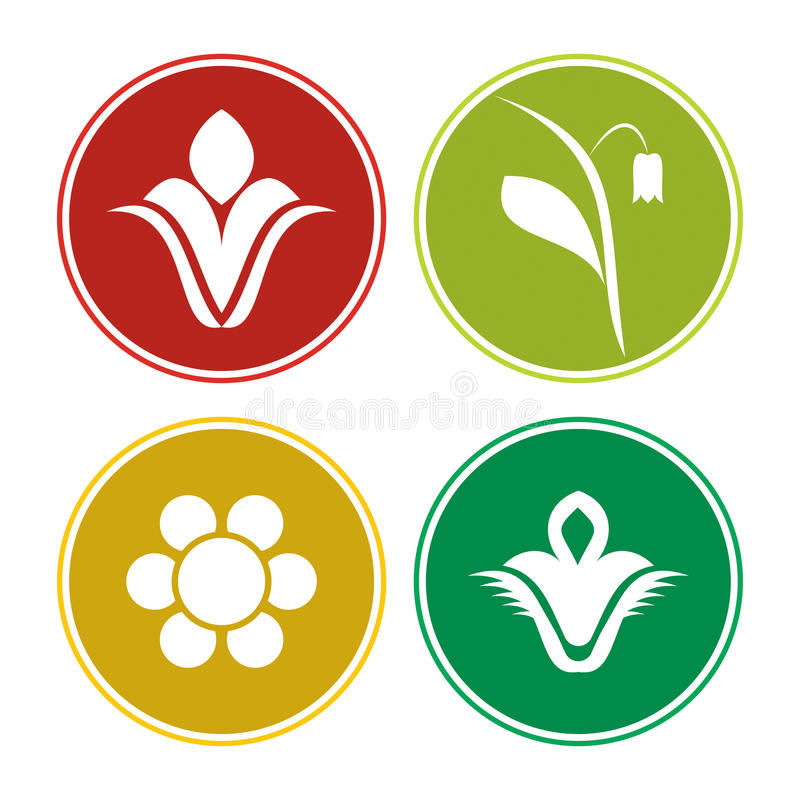 Sistema del icono de la flor libre illustration