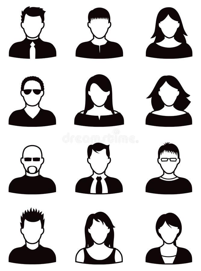Sistema del icono de la gente stock de ilustración