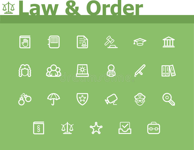 Sistema del icono de la ley y orden libre illustration