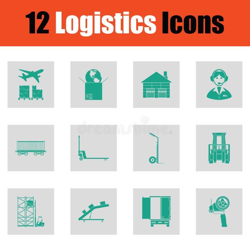 Sistema del icono de la logística ilustración del vector