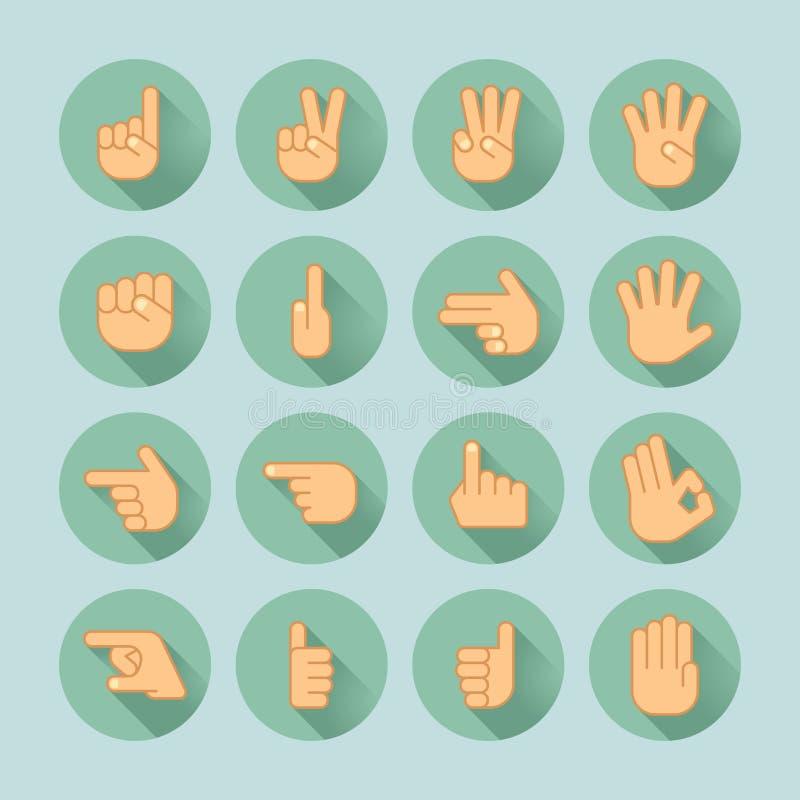 Sistema del icono de la mano libre illustration