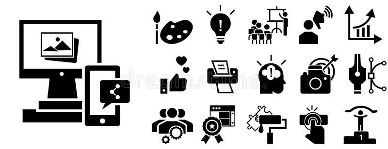Sistema del icono de la marca, estilo simple ilustración del vector