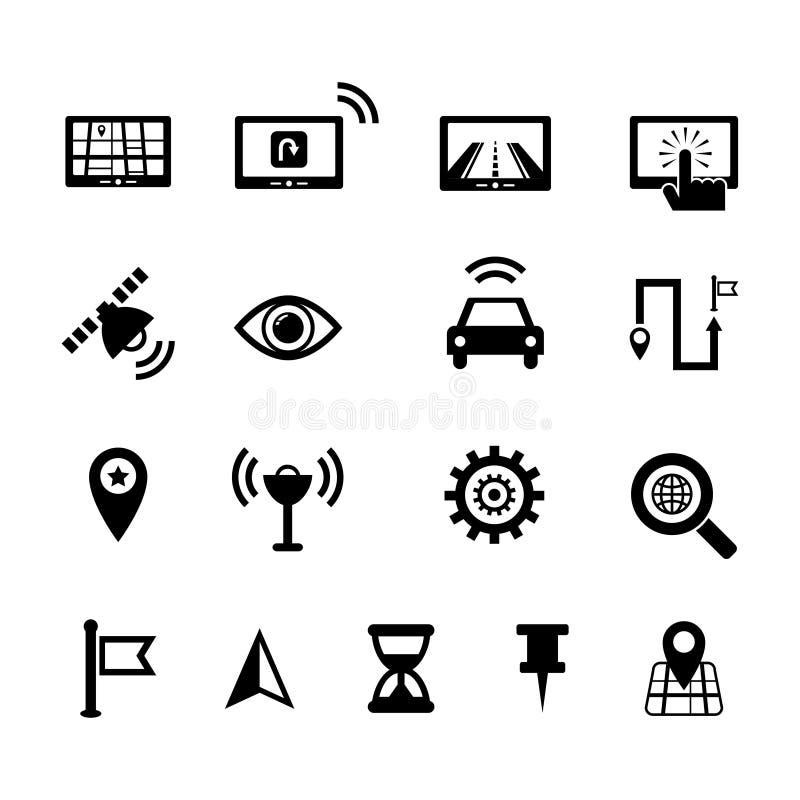 Sistema del icono de la navegación ilustración del vector