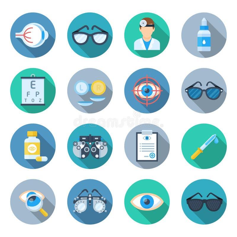 Sistema del icono de la oftalmología libre illustration