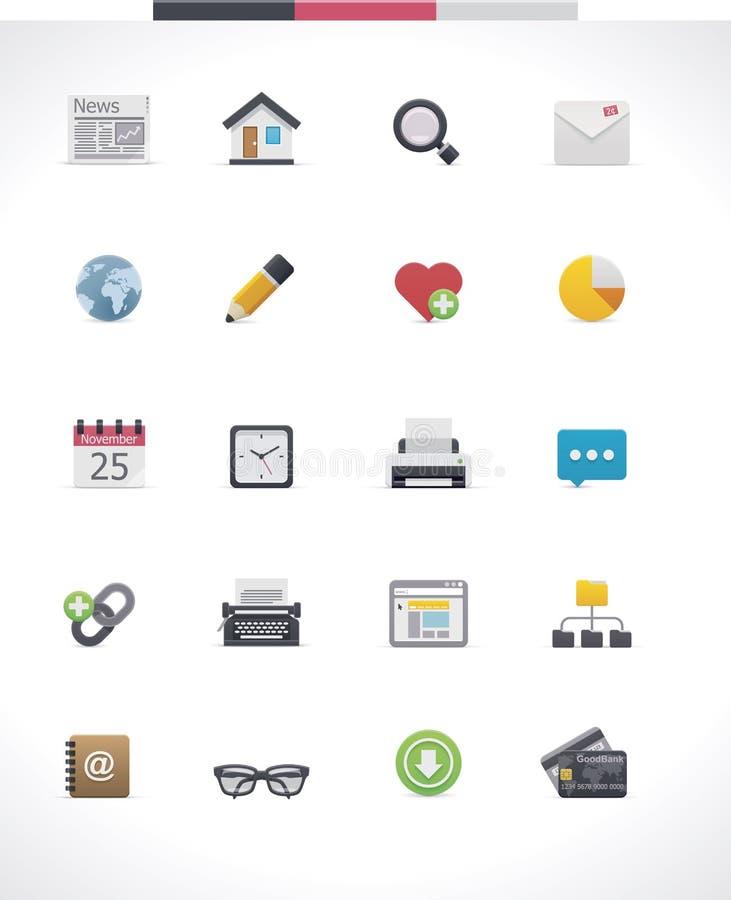Sistema del icono de la página web del vector ilustración del vector