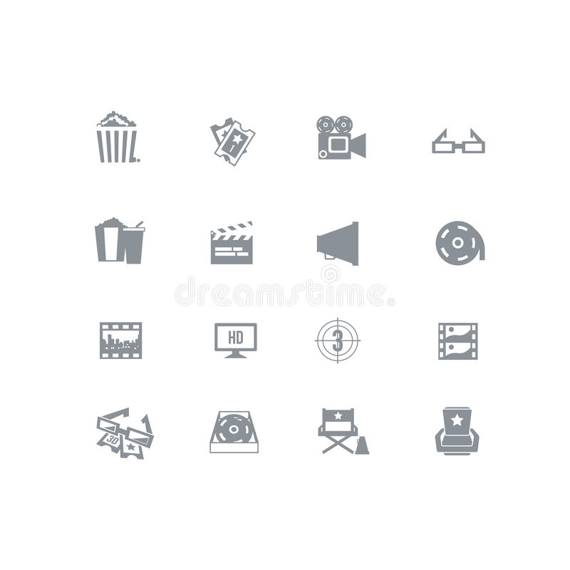 Sistema del icono de la película libre illustration