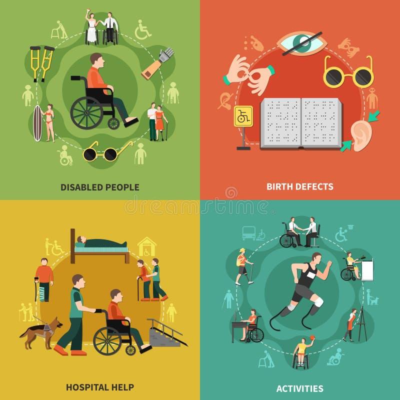 Sistema del icono de la persona discapacitada libre illustration