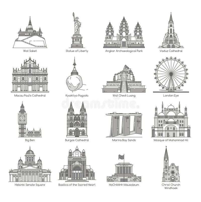 Sistema del icono de la señal del mundo libre illustration