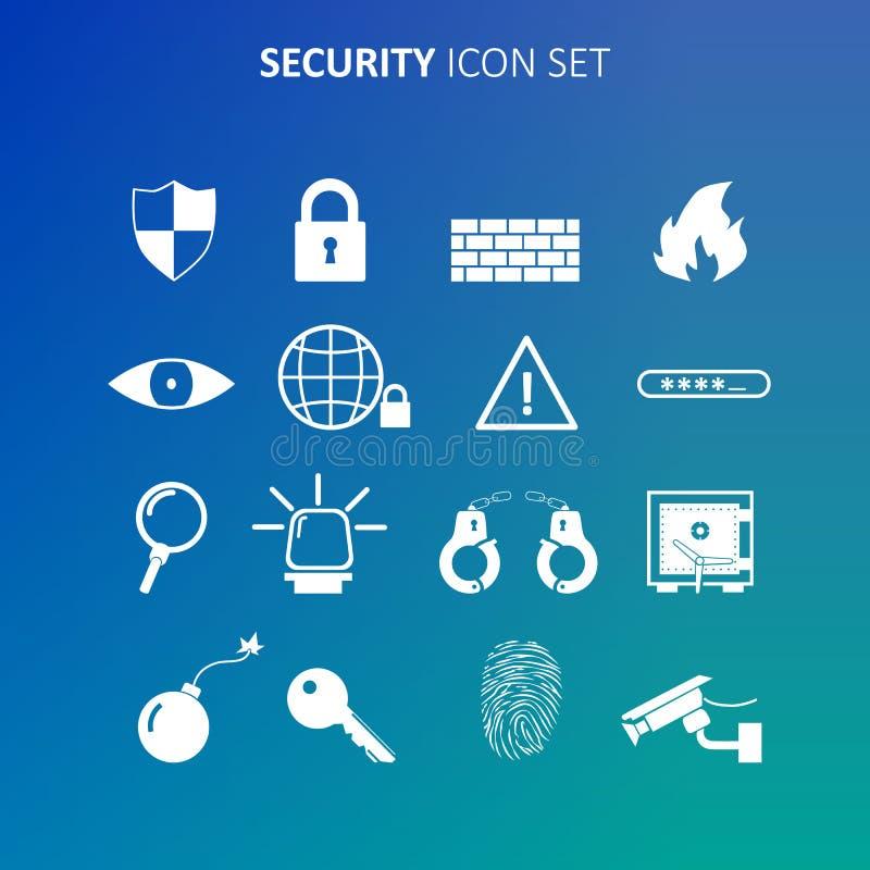 Sistema del icono de la seguridad ilustración del vector