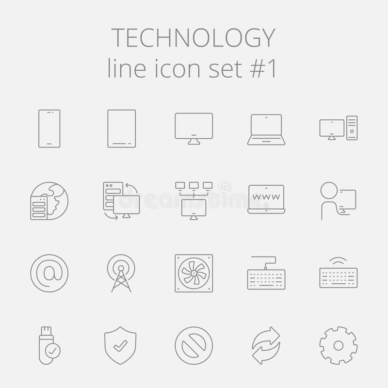 Sistema del icono de la tecnología