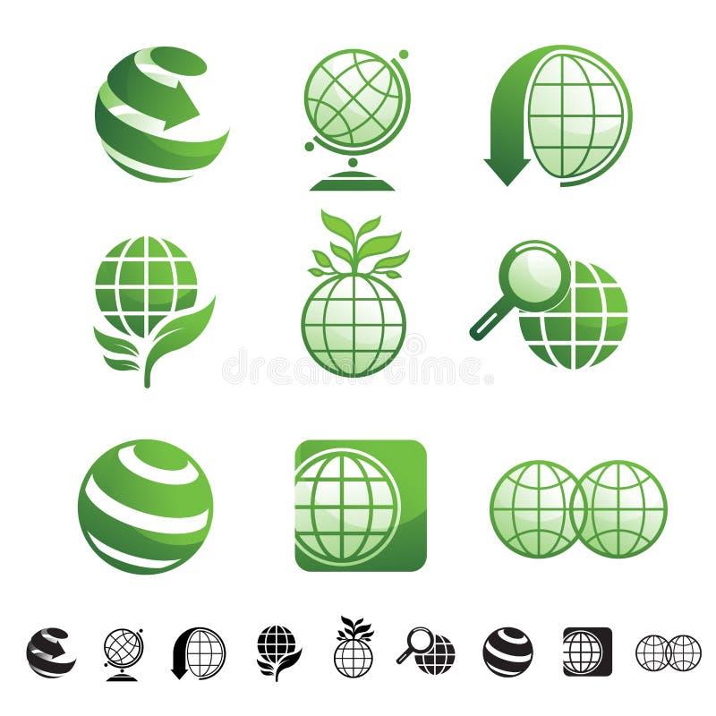 Sistema del icono de la tierra ilustración del vector