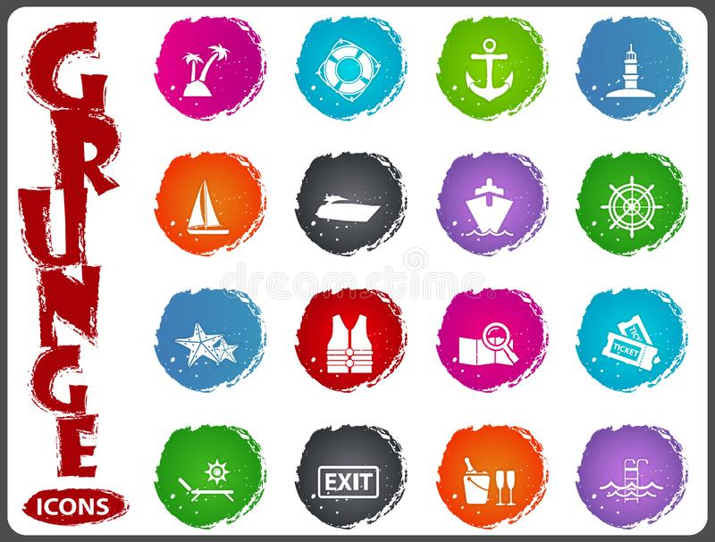 Sistema del icono de la travesía libre illustration