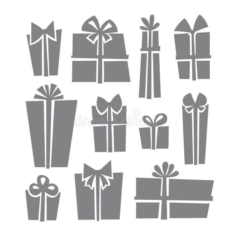 Sistema del icono de las cajas de regalo libre illustration