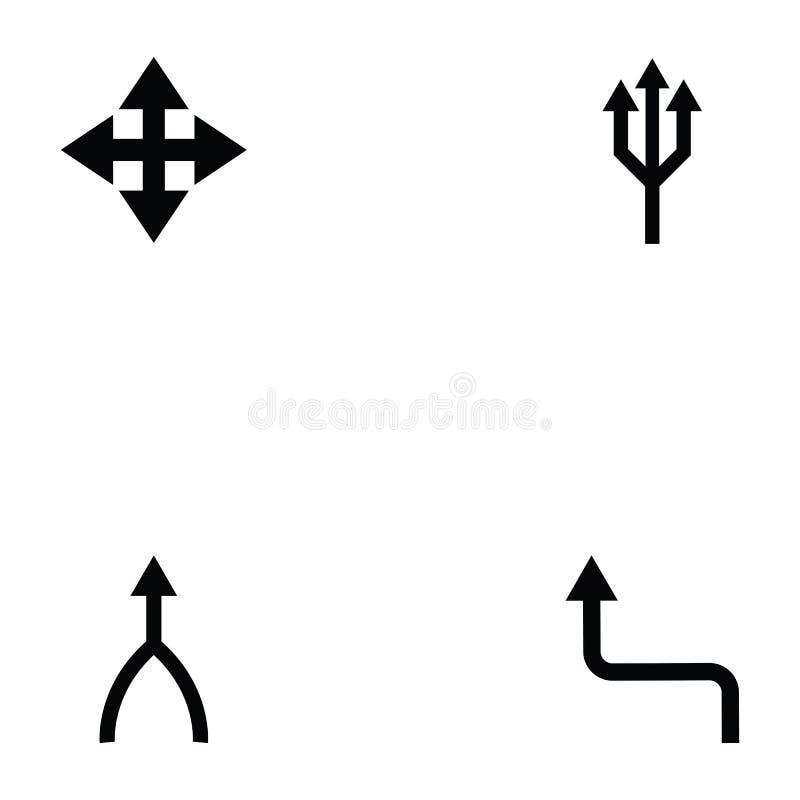 Sistema del icono de las direcciones stock de ilustración