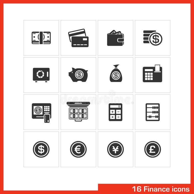 Sistema del icono de las finanzas y de las actividades bancarias libre illustration