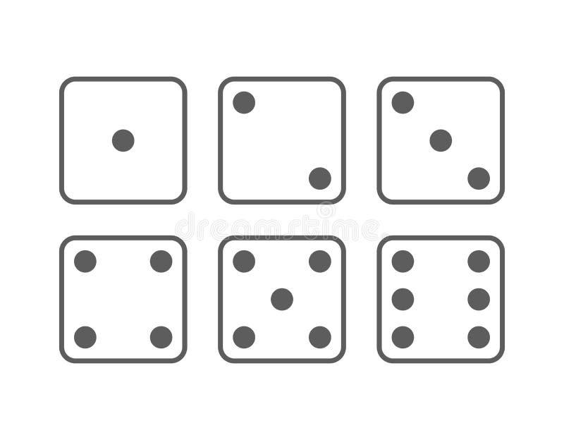 Sistema del icono de las mierdas stock de ilustración