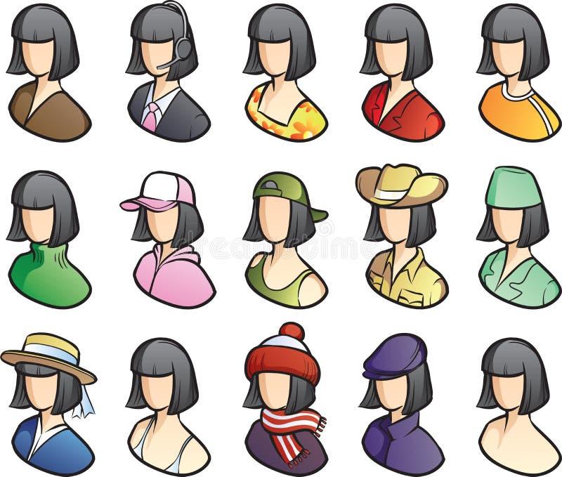 Sistema del icono de las mujeres libre illustration