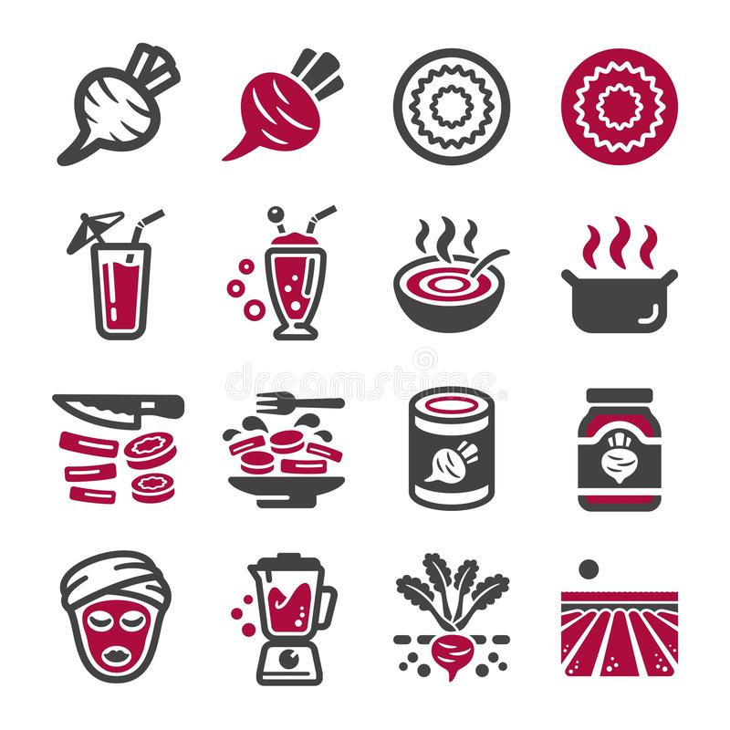 Sistema del icono de las remolachas libre illustration