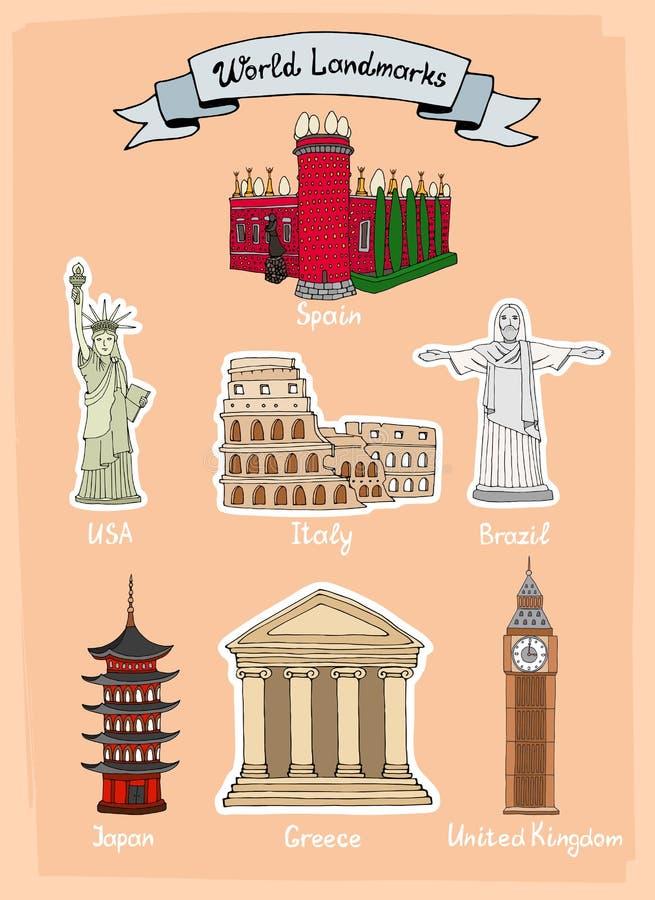 Sistema del icono de las señales del mundo libre illustration