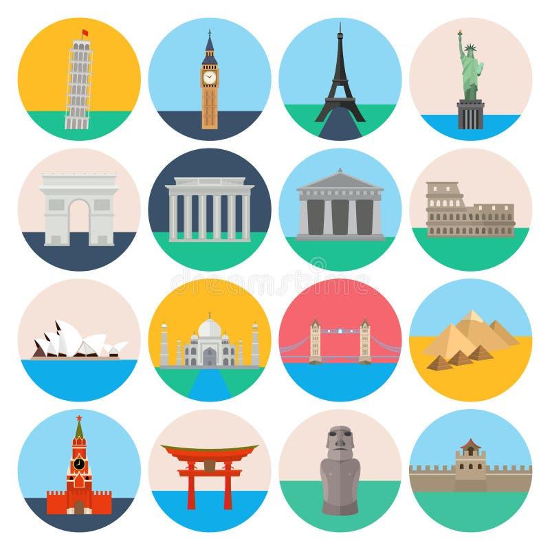 Sistema del icono de las señales del viaje libre illustration