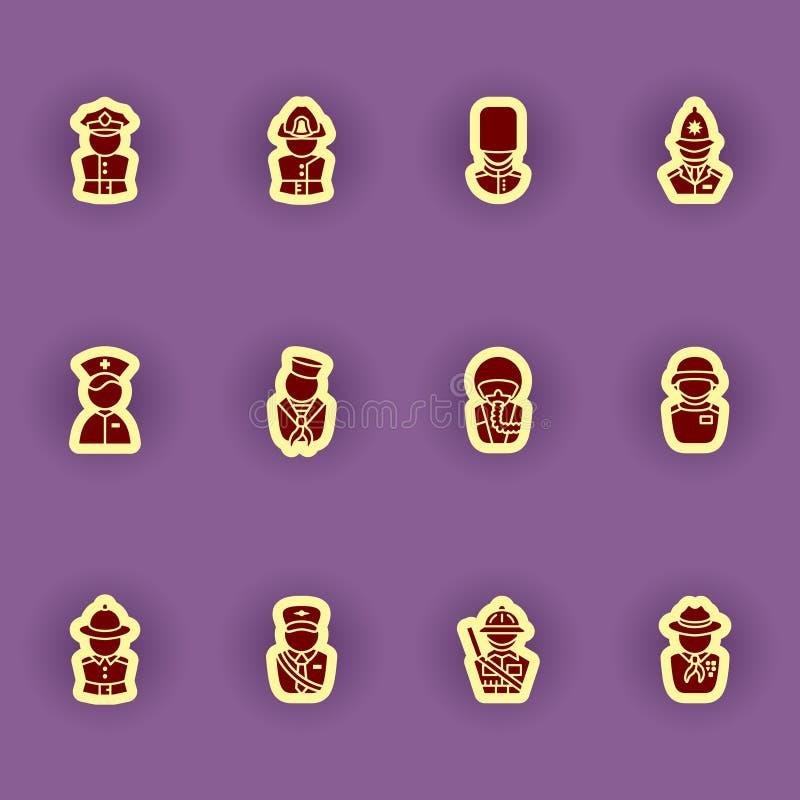 Sistema del icono de las siluetas del ser humano libre illustration