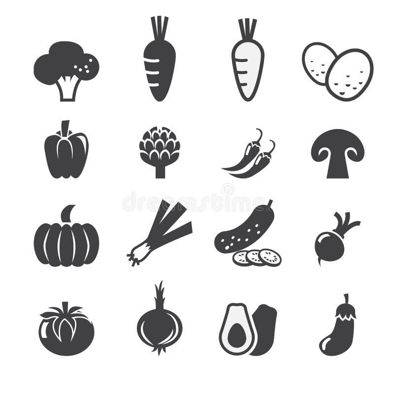 Sistema del icono de las verduras libre illustration