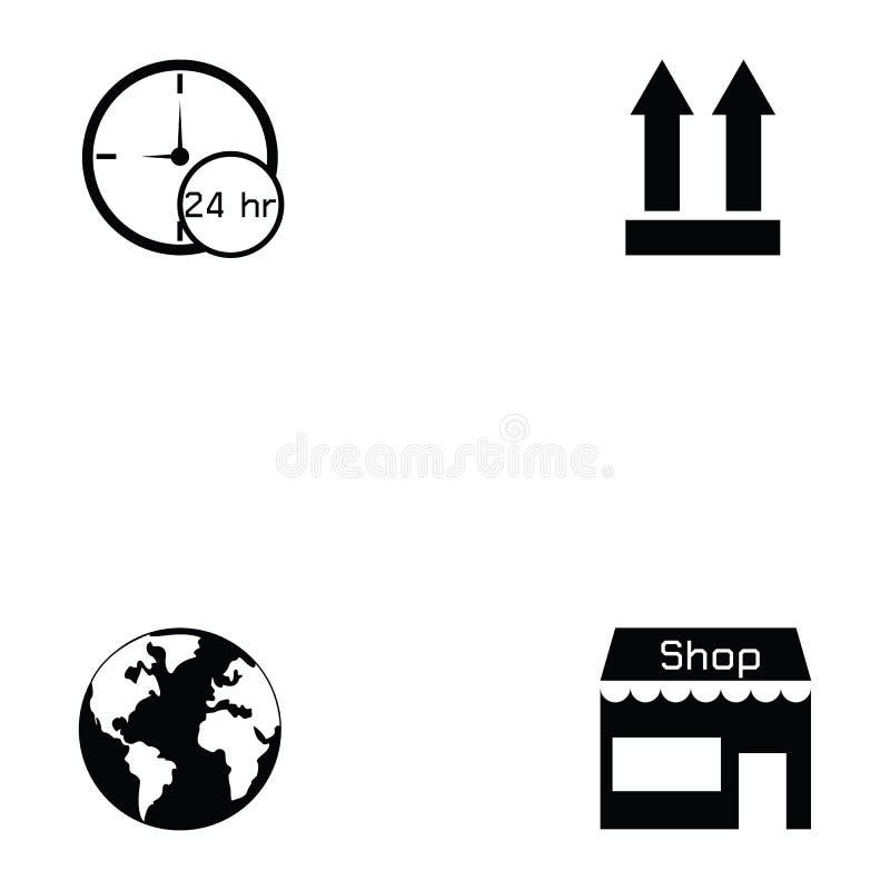 Sistema del icono de Logitstice ilustración del vector